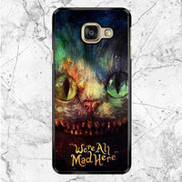 Ceshire Cat Were All Mad Here Watercolor Samsung Galaxy A9 Pro Case