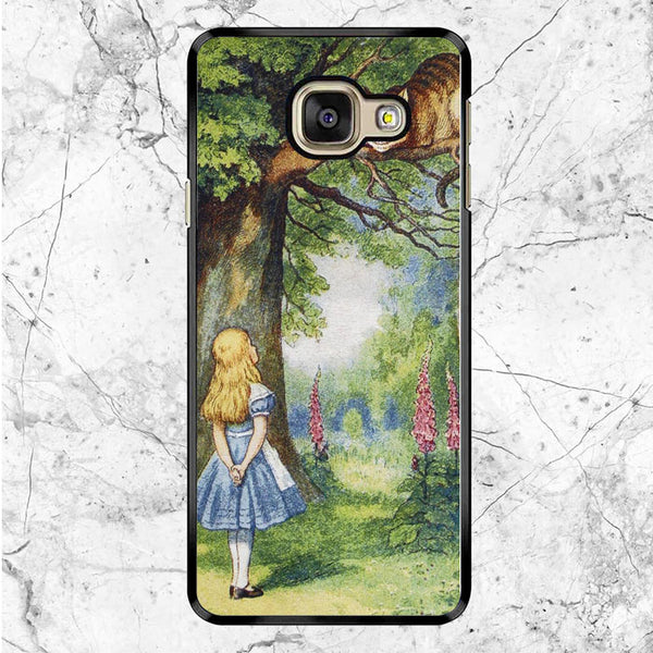 Chersire Cat And Alice Samsung Galaxy A8 2017 Case