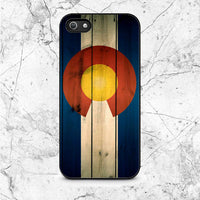 Colorado State Flag Wood Blue Design iPhone 5|5S|SE Case