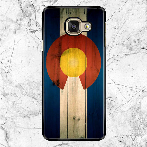 Colorado State Flag Wood Blue Design Samsung Galaxy A8 2017 Case