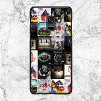 Cover Album Rock Band Collage Samsung Galaxy A8 Plus 2018 Case