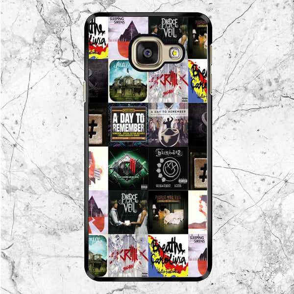 Cover Album Rock Band Collage Samsung Galaxy A9 Pro Case