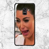 Crying Kim Kardashian Face Samsung Galaxy A8 2018 Case