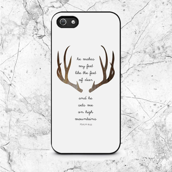 Deer Bible Verse Quotes iPhone 5|5S|SE Case