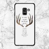 Deer Bible Verse Quotes Samsung Galaxy A8 Plus 2018 Case