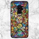 Disney All Characters Stained Glasses Samsung Galaxy S9 Plus Case