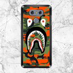 Face Shark Orange Camouflage LG G6 Case