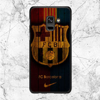 Fc Barcelona Wood Texture Samsung Galaxy A8 2018 Case