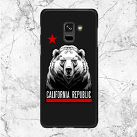 Front Bear California Republic Samsung Galaxy A8 2018 Case