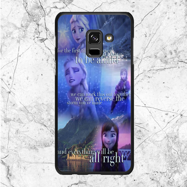 Frozen Quotes Samsung Galaxy A8 2018 Case