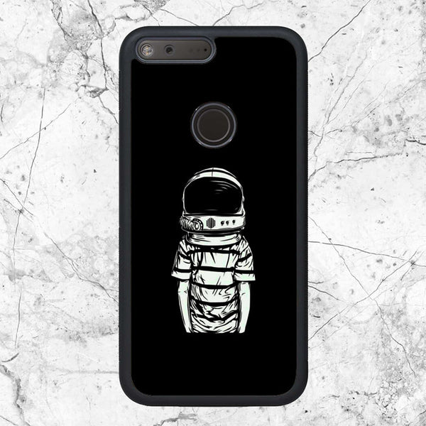 Black White Astronaut Kids Google Pixel XL Case