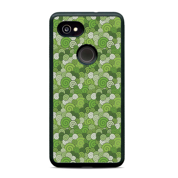 Abstract Circular Green Case Google Pixel 2 XL Case - Sixtyninecase