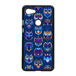 Abstract Owl Pattern Google Pixel 3 XL Case - Sixtyninecase