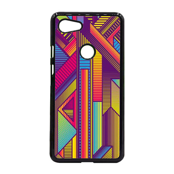 Abstract Vertical Line Techno Art Google Pixel 3 Case - Sixtyninecase
