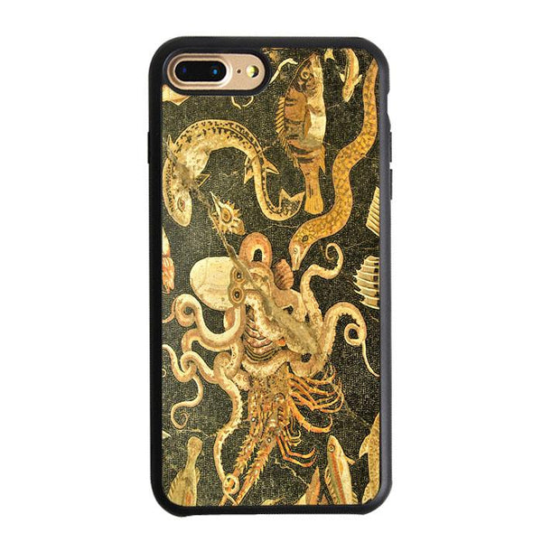 Vintage Octopus Painting Art iPhone 8 Plus Case - Sixtyninecase