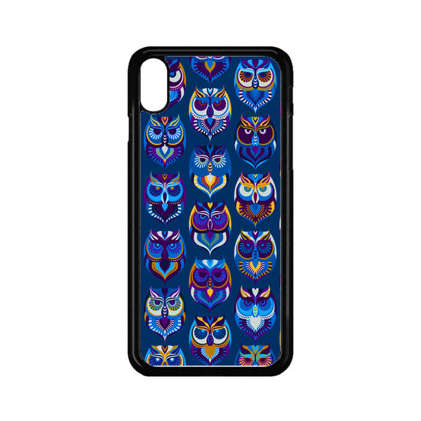 Abstract Owl Pattern iPhone XS Max Case - Sixtyninecase