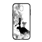 Black White Moon Walt Disney Kingdom Hearts Samsung Galaxy J7 2017 EURO Version Case - Sixtyninecase