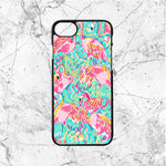 Lilly Pulitzer Flamingo Pattern iPhone  8 Case | Sixtyninecase
