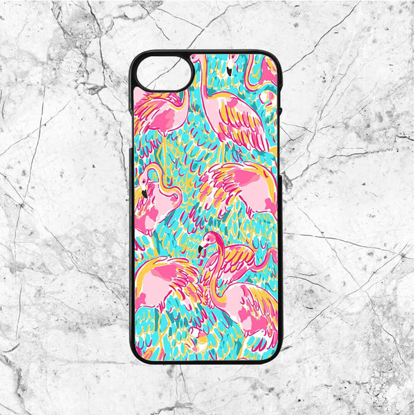 Lilly Pulitzer Flamingo Pattern iPhone  7 Case | Sixtyninecase