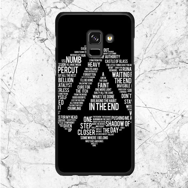Linkin Park Typography Samsung Galaxy A6 2018 Case | Sixtyninecase