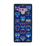 Abstract Owl Pattern Samsung Galaxy Note 9 Case - Sixtyninecase