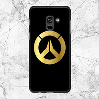 Overwatch Gold Logo Samsung Galaxy A8 Plus 2018 Case