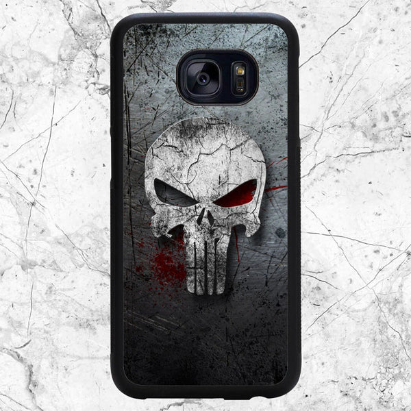 Punisher Metal Texture Samsung Galaxy S7 Case | Sixtyninecase