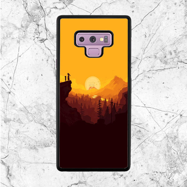 Rick And Morty Sunset Samsung Galaxy Note 9 Case