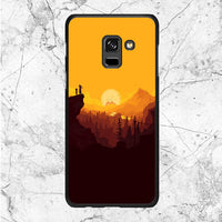 Rick And Morty Sunset Samsung Galaxy A8 Plus 2018 Case