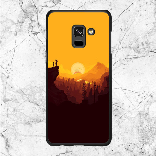 Rick And Morty Sunset Samsung Galaxy A8 2018 Case
