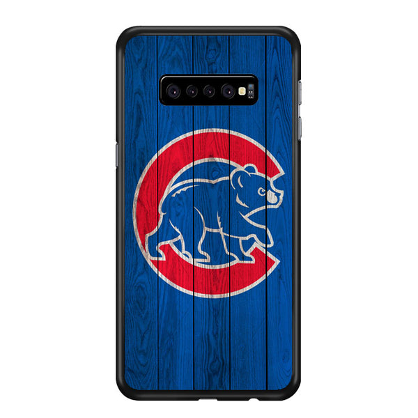 Chicago Cubs Home Baseball Wood Texture Samsung Galaxy S10 Plus Case - Sixtyninecase