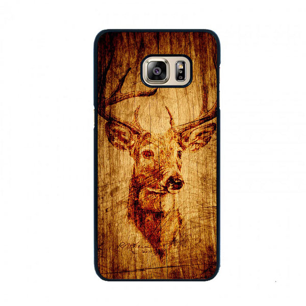Deer Wood Art Samsung Galaxy S6 Case - Sixtyninecase