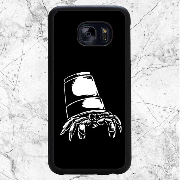 Black White Crab On Shell Samsung Galaxy S7 Edge Case