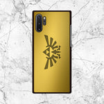 Zelda Triforce Gold Logo Samsung Galaxy Note 10 Plus Case - Sixtyninecase