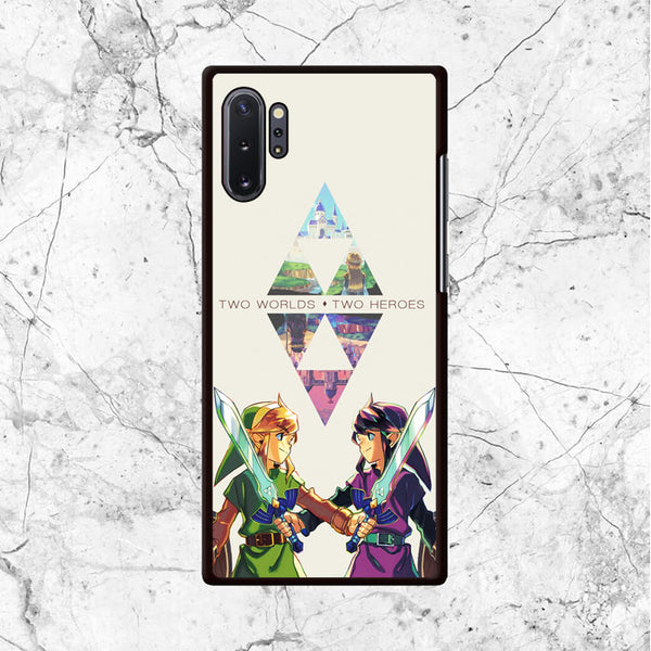 Zelda Two Worlds Two Heroes Samsung Galaxy Note 10 Plus Case - Sixtyninecase