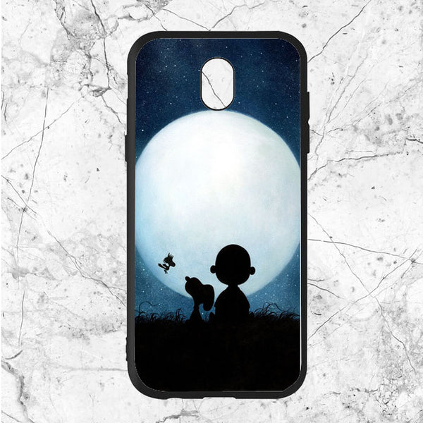 Snoopy Charlie Brown And Moon Samsung Galaxy J7 2017 Euro Version Case | Sixtyninecase