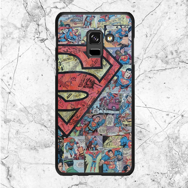 Superman Logo Comic Collages Samsung Galaxy A6 2018 Case | Sixtyninecase