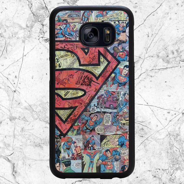 Superman Logo Comic Collages Samsung Galaxy S7 Case | Sixtyninecase