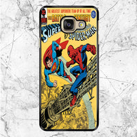 Superman Vs Spiderman Vintage Story Book Cover Samsung Galaxy A9 Case