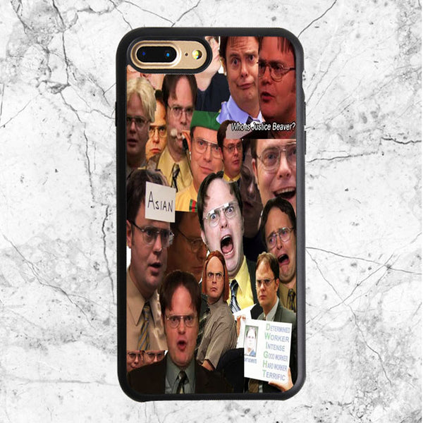 The Office Tv Show Collage Dwight Schrute Face iPhone 7 Plus Case | Sixtyninecase
