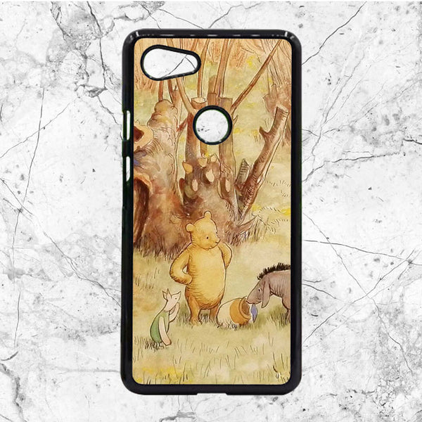 Vintage Art Winnie The Pooh Google Pixel 3 XL Case | Sixtyninecase