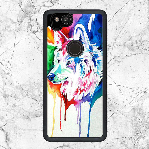 Watercolor Wolf Art Google Pixel 2 Case | Sixtyninecase