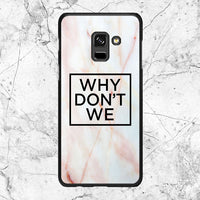 Why Dont We Logo Marble Samsung Galaxy A8 Plus 2018 Case