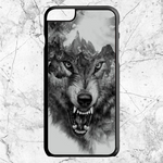 Wolf Mountain Growl Art iPhone  6 Plus | 6s Plus | Case | Sixtyninecase