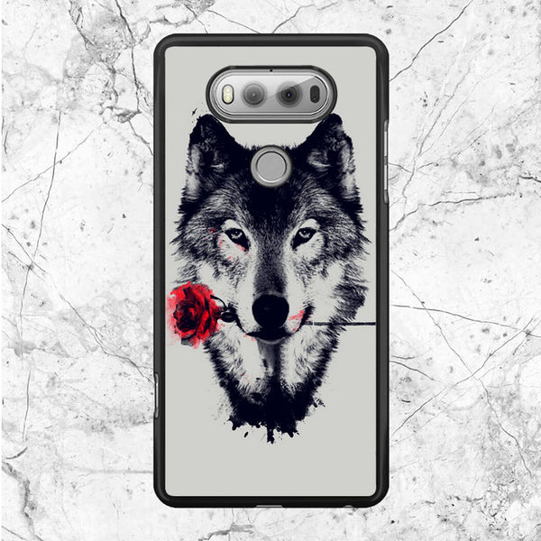 Wolf Red Flower LG V20 Case | Sixtyninecase