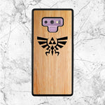 Zelda Wood Texture Logo Samsung Galaxy Note 9 Case