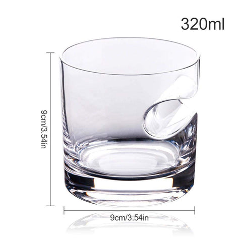 Best Crystal Whiskey Glass Tumbler with Cigar Holder, 320ml Old Fashioned Glass for Scotch Bourbon Irish Jameson Whisky tenofo.com