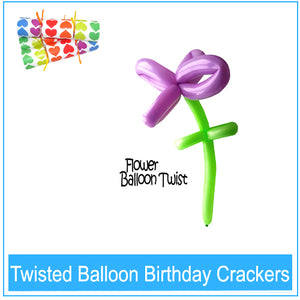 Twisted Balloon Birthday Crackers