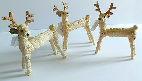"Christmas Tree Ornament | ""Straw Reindeer"""