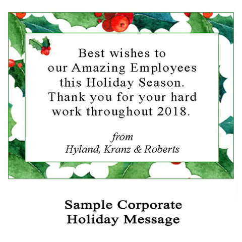 Corporate Holiday Message for Custom Christmas Crackers